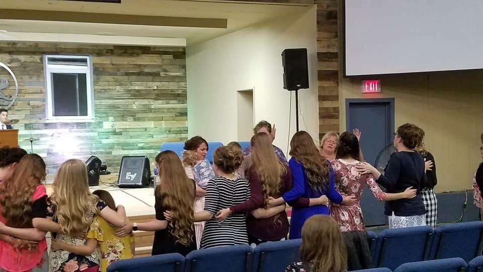 Ladies Praying together